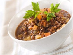lentil soup - enjoy our homemade soup of lentils and vegetables its our house special!