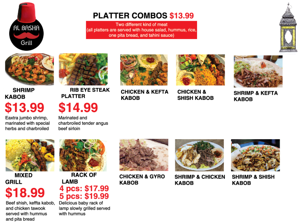 menu Platter Combos